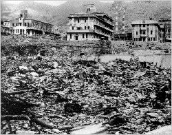 廃墟と化した長崎医科大学