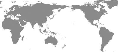 日本が真ん中の世界地図