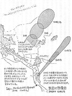 気団の想像図 3月30日10時頃