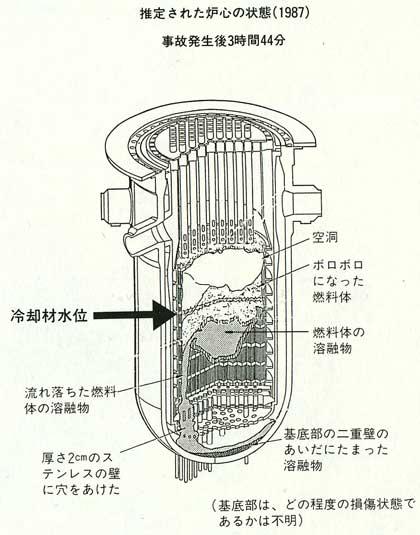推定された炉心の状態(1987)